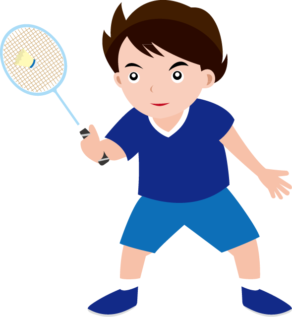 Playing badminton clipart.