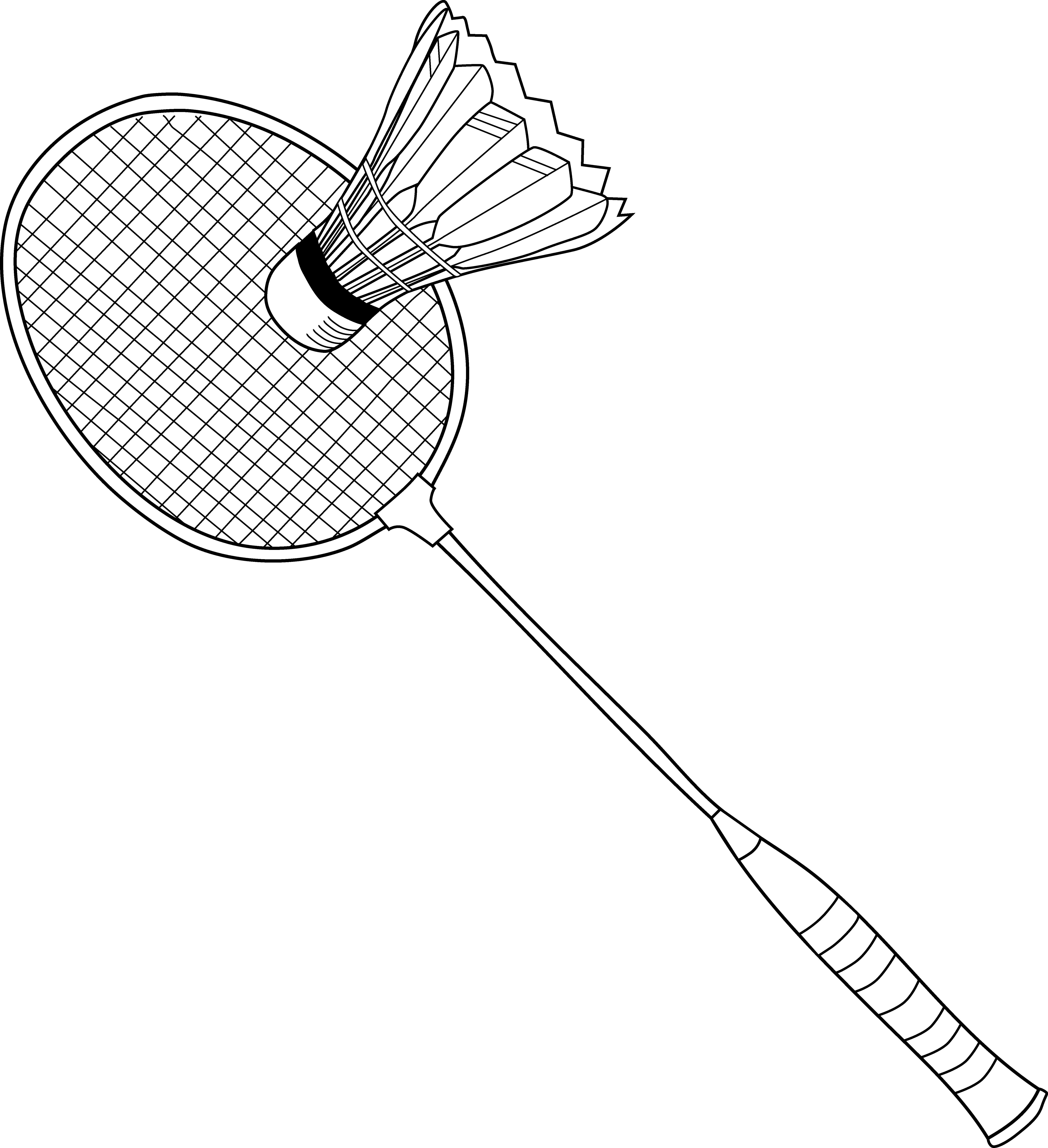 Badminton Coloring Page.