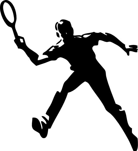 Badminton cliparts.