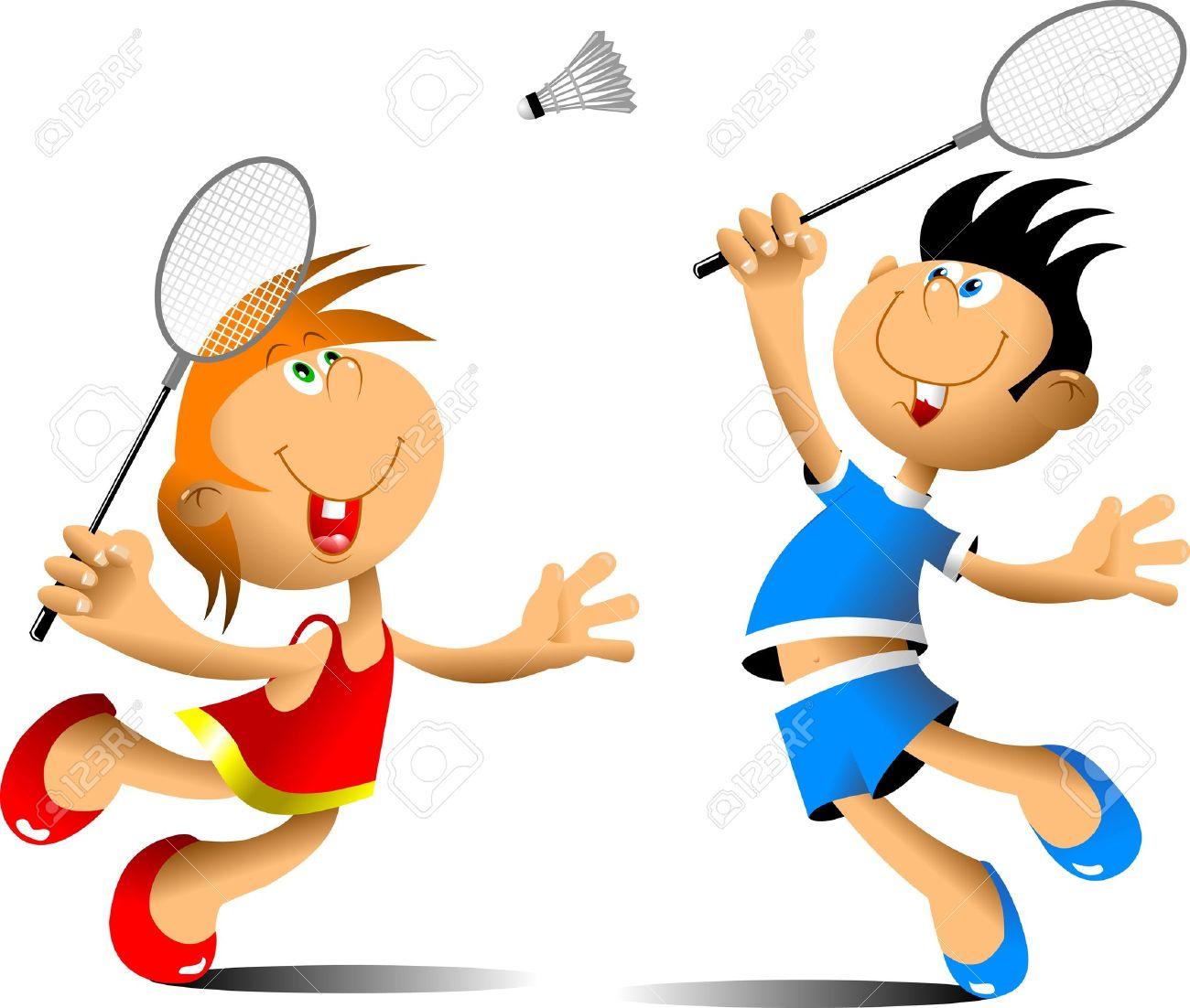 Play badminton clipart.