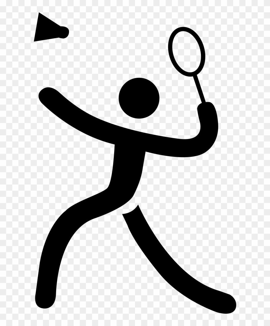 Badminton Cartoon Black And White Clipart Badminton.