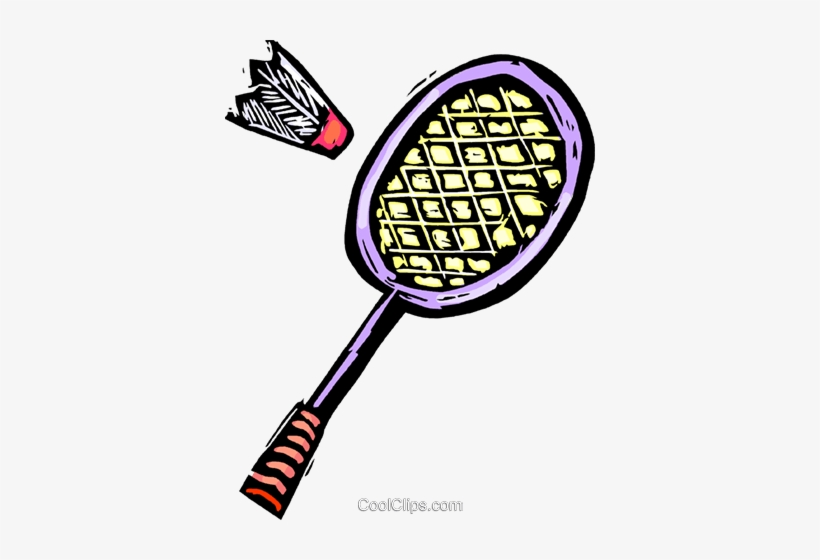 Badminton Racket And Birdie Royalty Free Vector Clip.