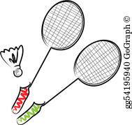 Badminton Clip Art.