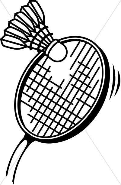 Badminton in Black and White.