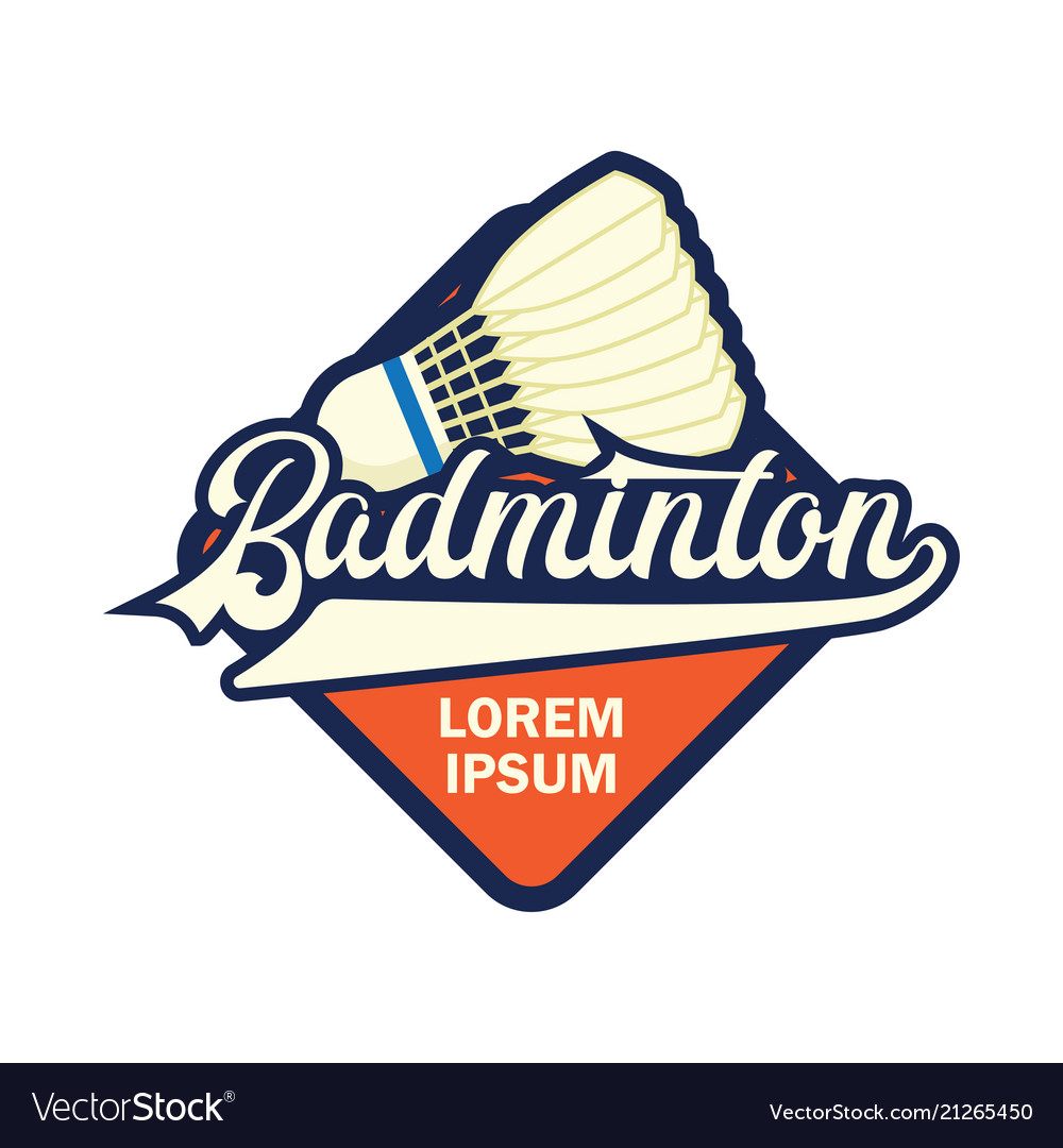 Badminton logo with text space for your slogan.