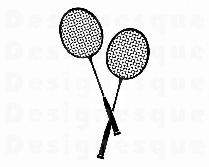 Badminton #2 Svg, Badminton SVG, Badminton Clipart, Badminton Files for  Cricut, Badminton Cut Files For Silhouette, Dxf, Png, Eps, Vector.