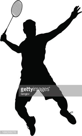 Badminton Player Clipart Image.
