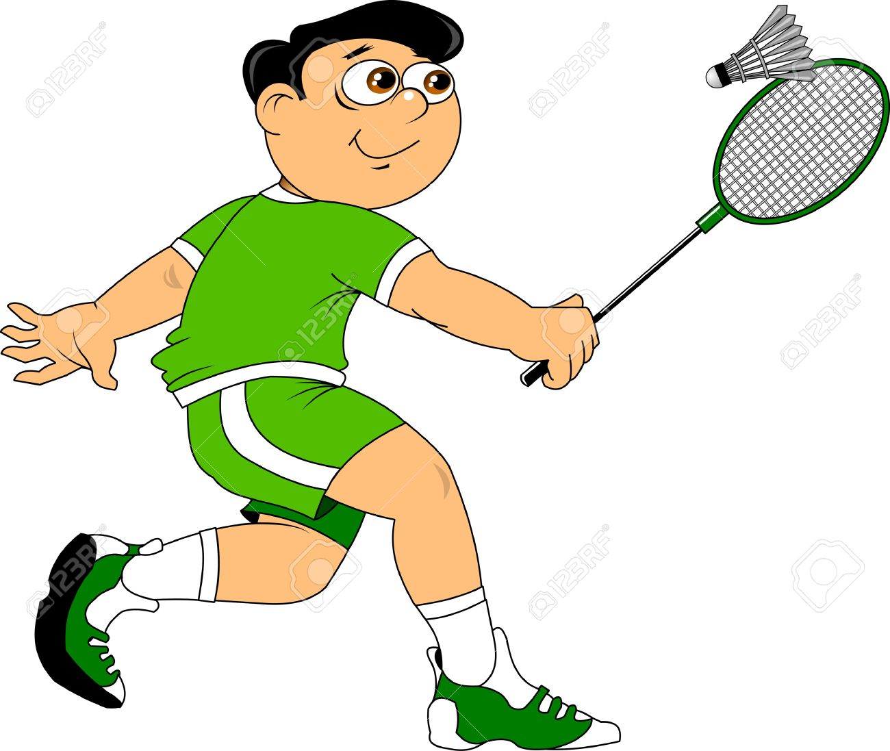 Badminton Playing Clipart.