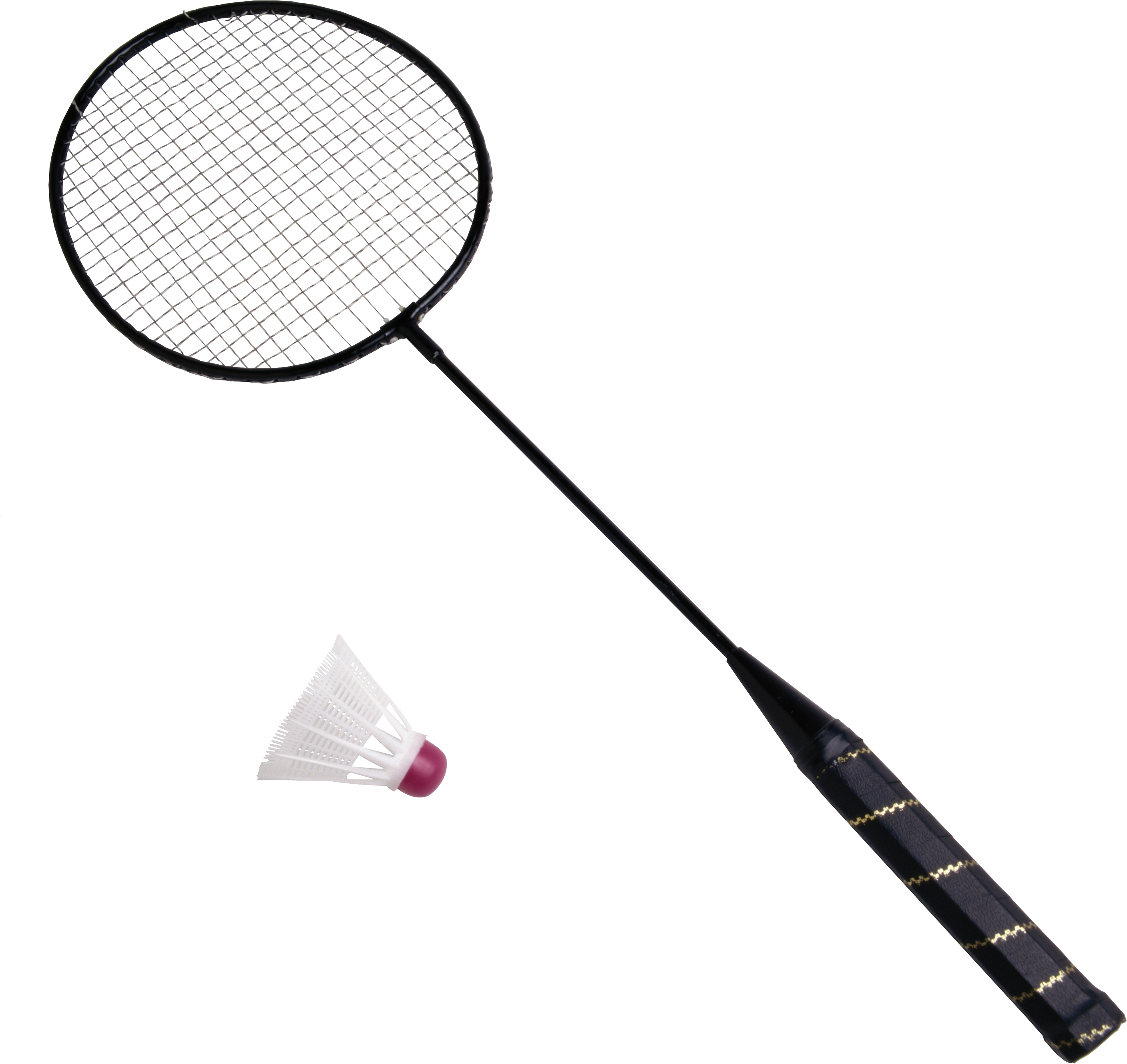 Badminton Racket Shuttlecock.