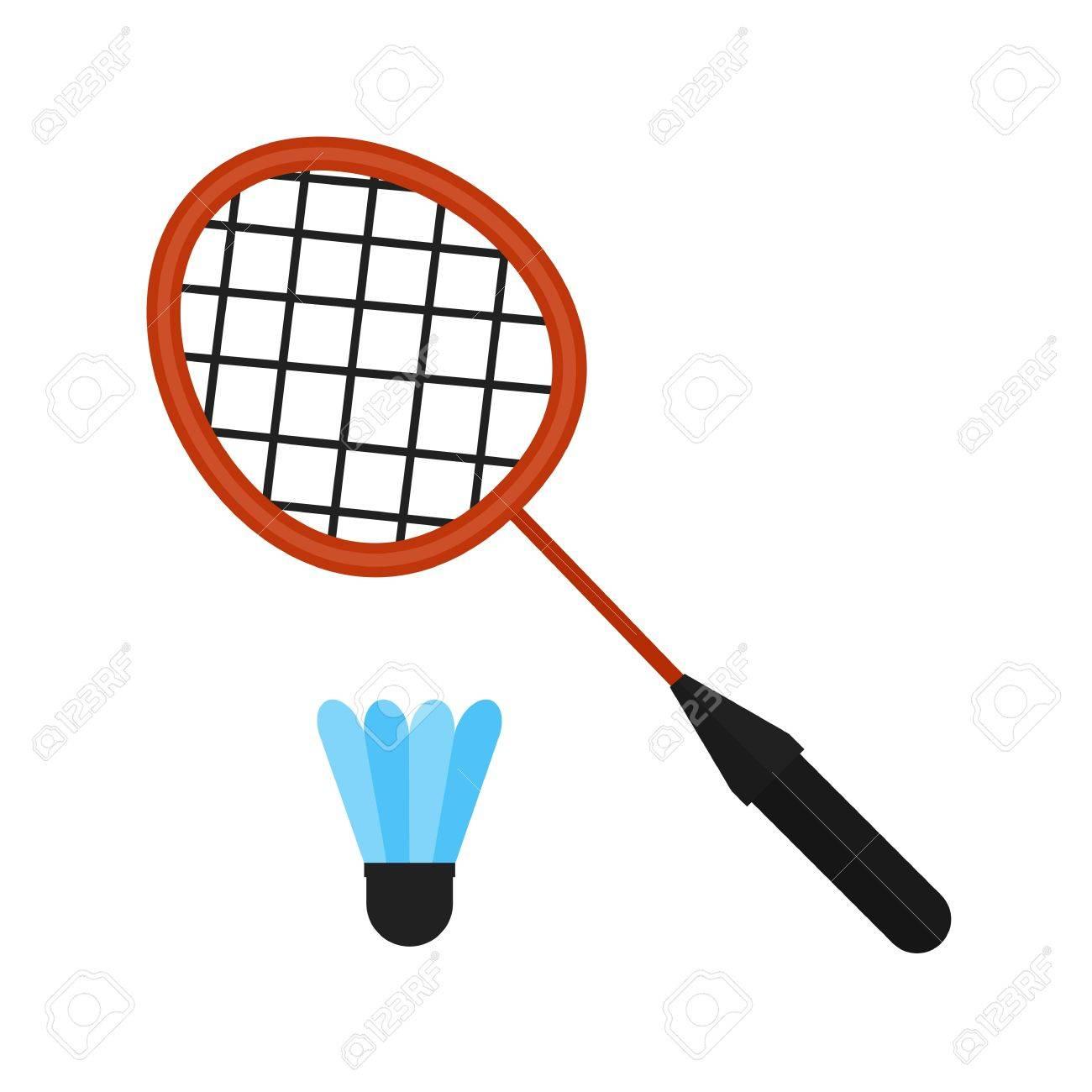 Badminton, racket, shuttlecock, sports icon vector image. Can...