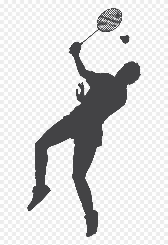 Badminton Racket Shuttlecock Smash Clip Art.