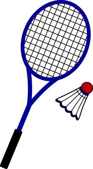 Badminton Racquet and Birdie.