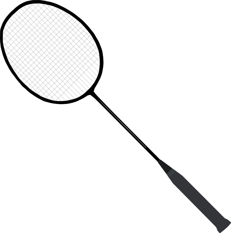 Free Clipart: Badminton racket (with strings).