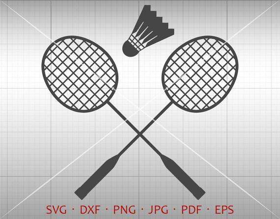 Badminton SVG, Shuttlecock Clipart Silhouette Cricut Cut File Vector  Commercial Use.