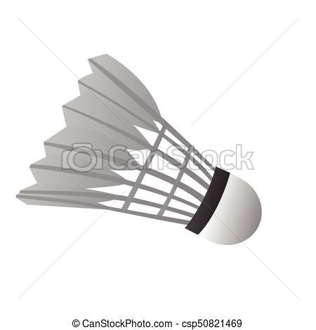 Isolated badminton shuttlecock.