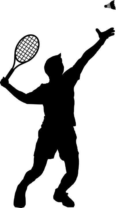 Badminton Sport Silhouette.