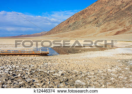 Stock Photo of Badwater Basin, Death Valley National Park.