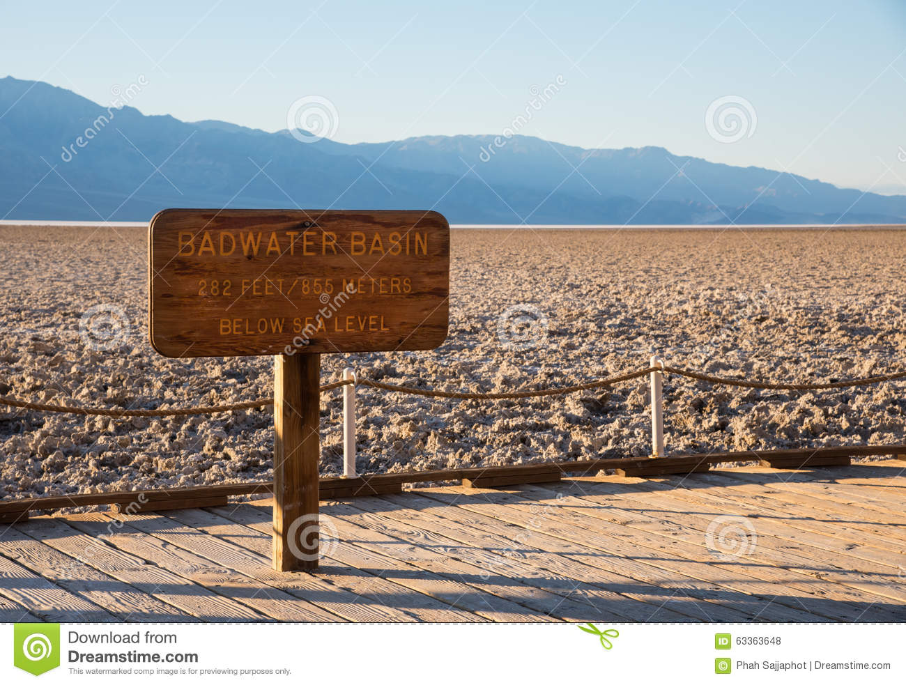 Badwater Basin Sign Death Valley Stock Photos, Images, & Pictures.
