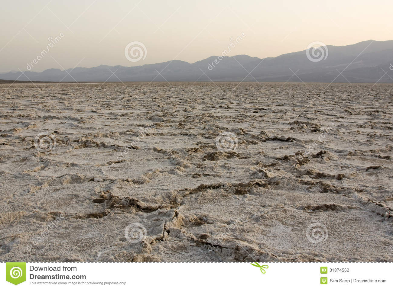 Badwater Basin (lowest Point On Western Hemisphere) Stock.