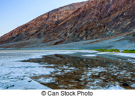 Stock Images of Badwater Basin Death Valley.