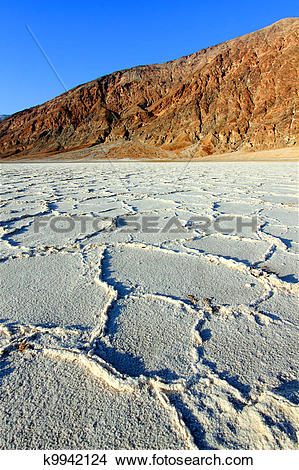 Stock Photo of Badwater Basin Death Valley k9942124.