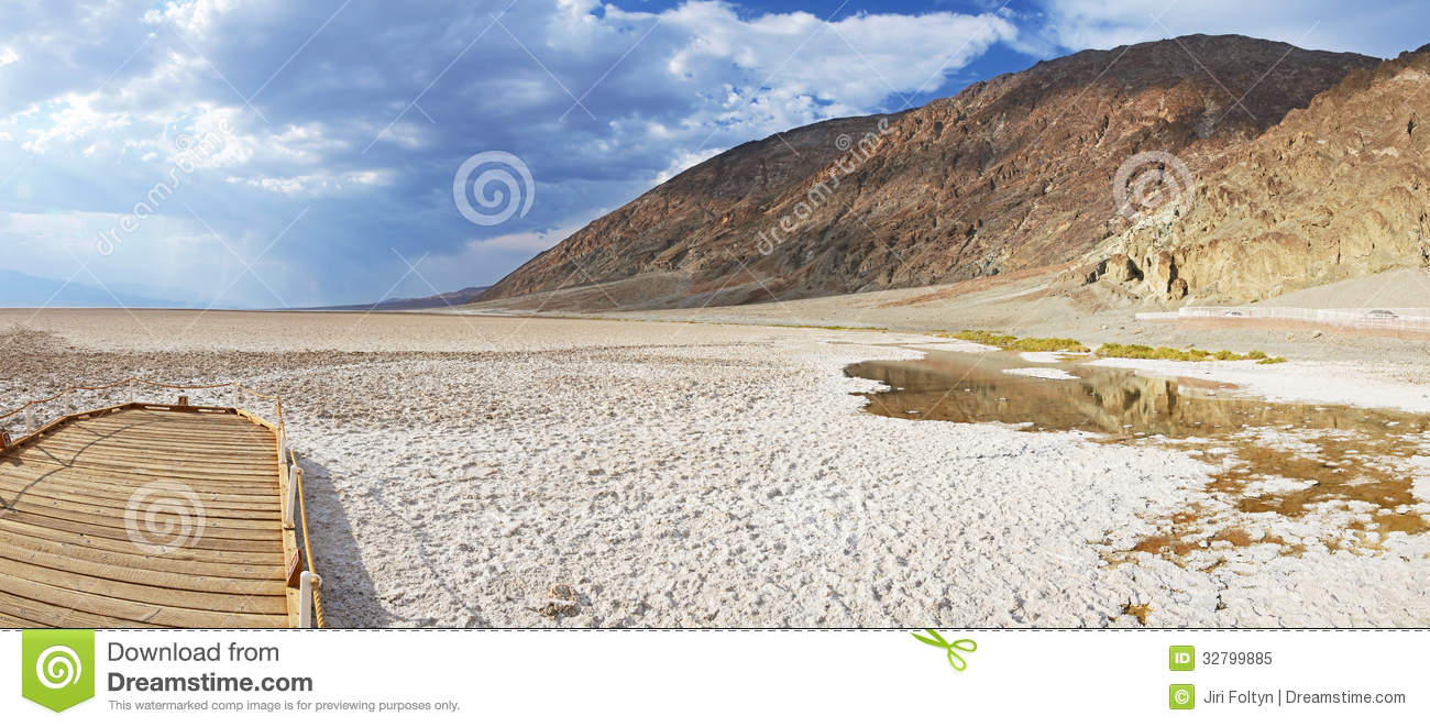 Badwater Basin, Death Valley Royalty Free Stock Photo.