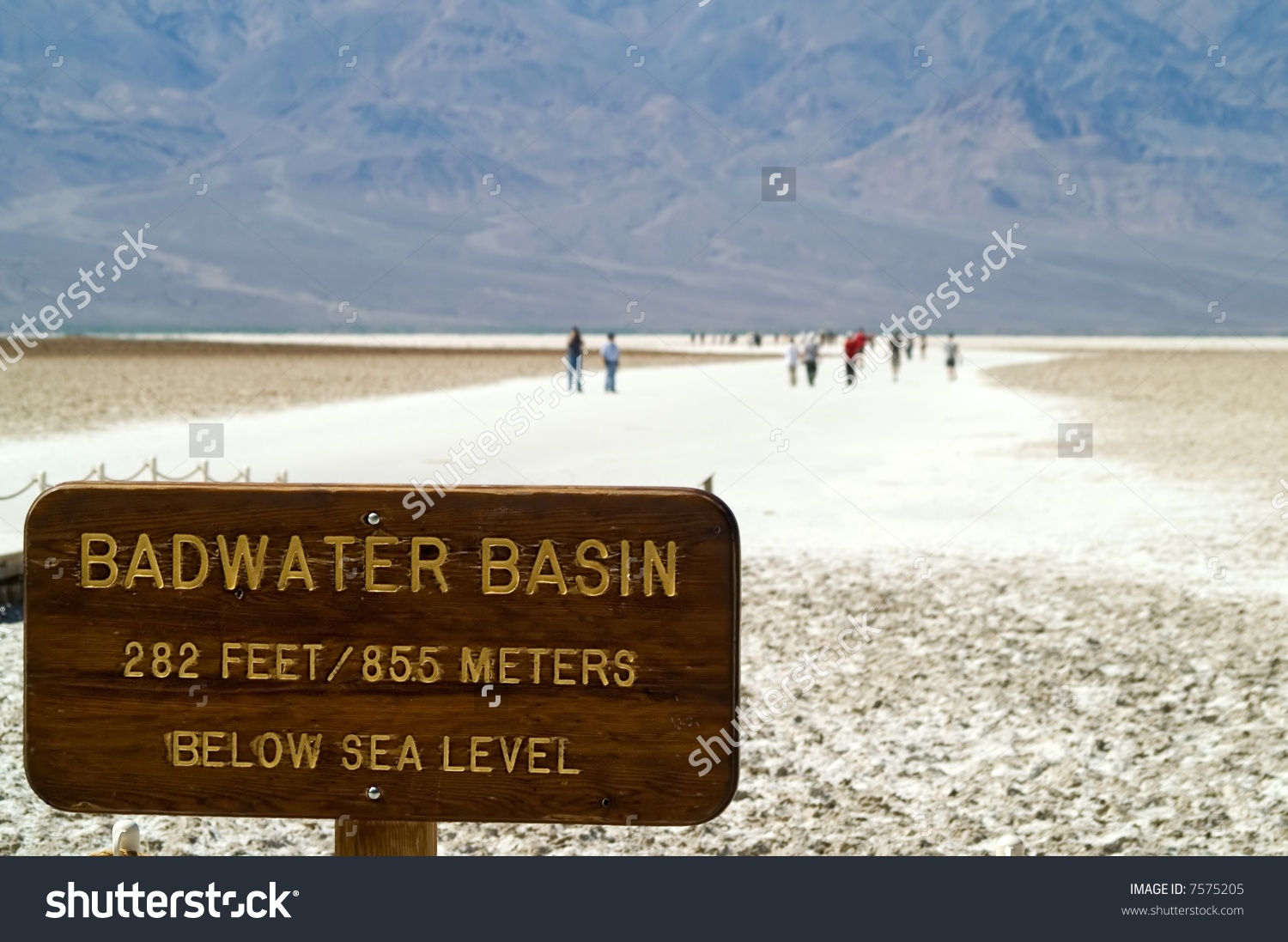 Badwater Basin Death Valley National Park Stock Photo 7575205.