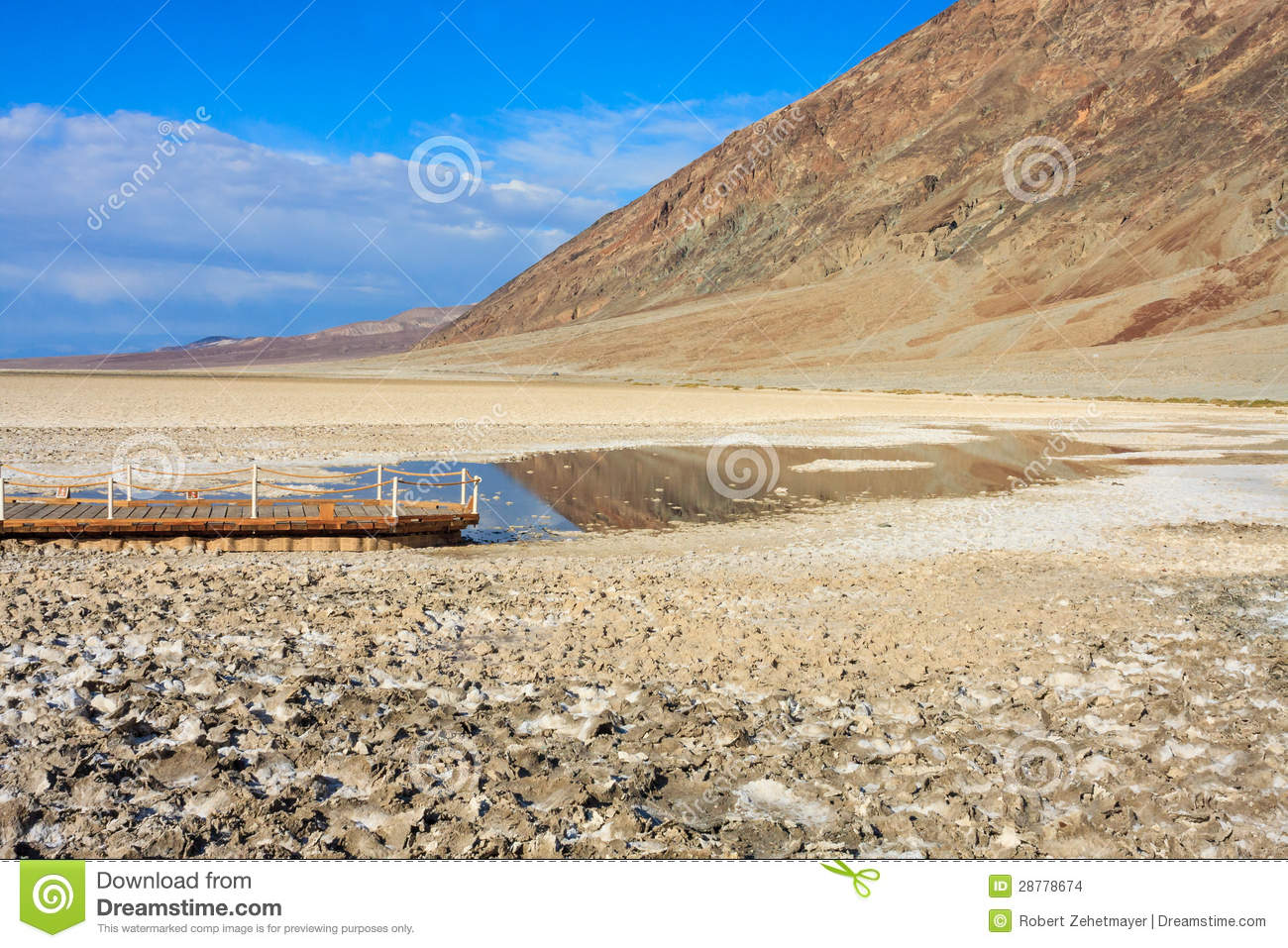 Badwater Basin, Death Valley National Park, California Stock.