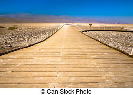 Stock Image of Badwater Death Valley California.