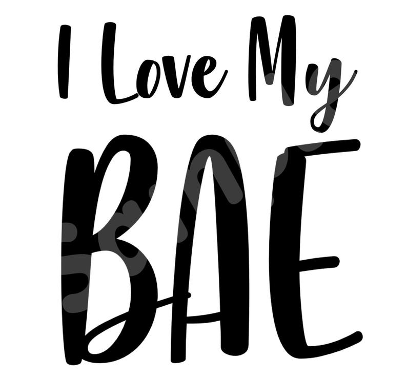 INSTANT DOWNLOAD i love my BAE png file, auntie, auntie, best auntie  ever,Iron on transfer Designs For black and white T.