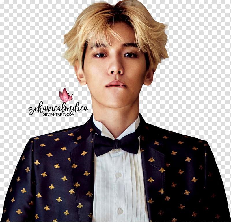 EXO Baekhyun ELLE transparent background PNG clipart.