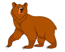 Bear clip art images.