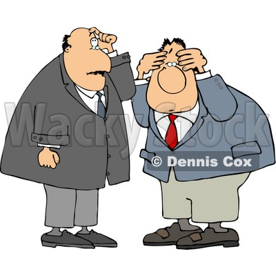 Businessmen Thinking About Something Clipart © Dennis Cox #4760.