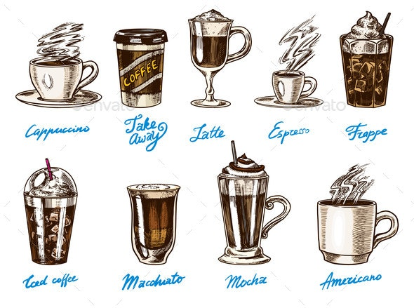 Coffee in Vintage Style.