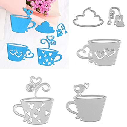 Amazon.com: UanBO9wykh Cutting Die (○_○), 5Pcs/Set Tea Bag.