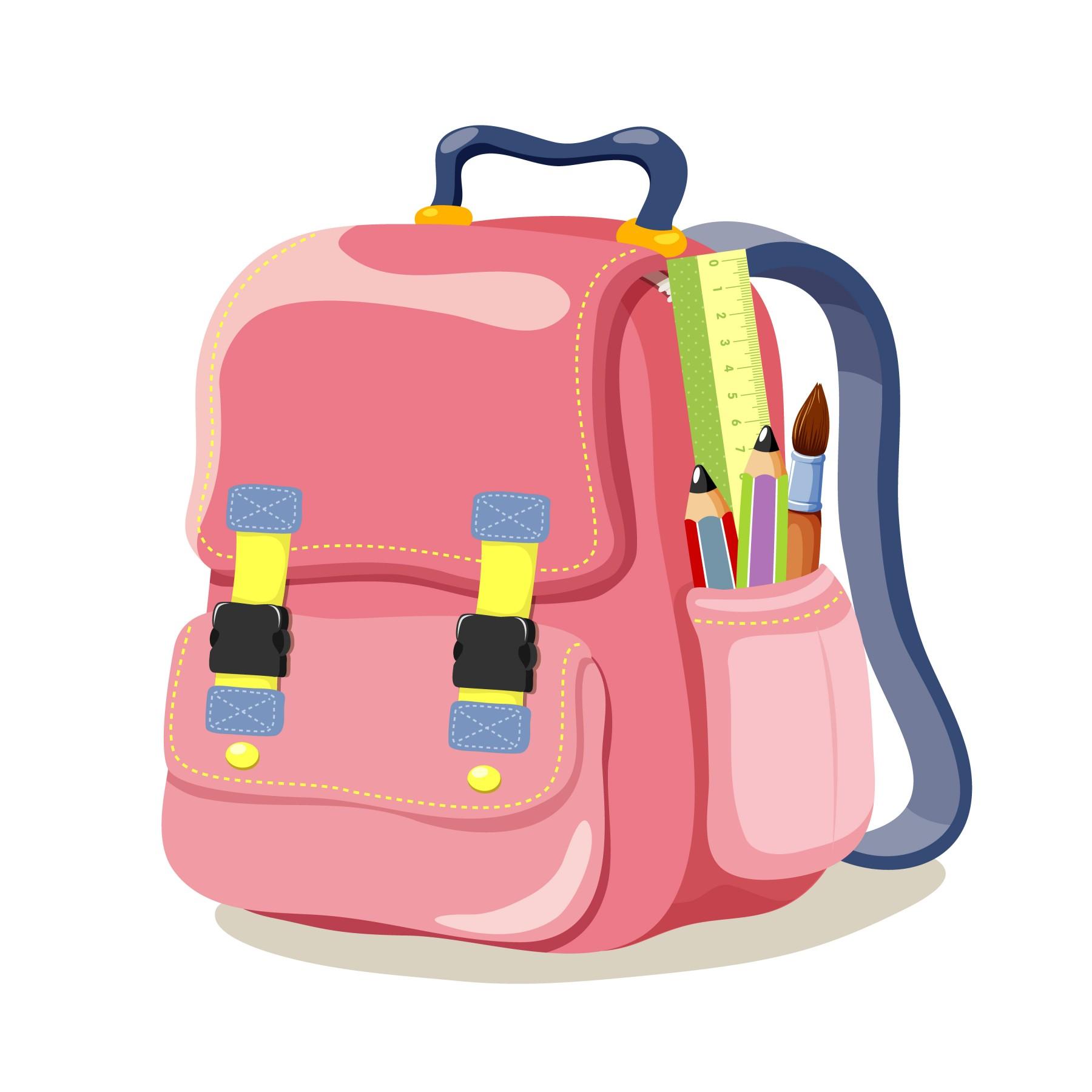 5 Cartoon School Bags.