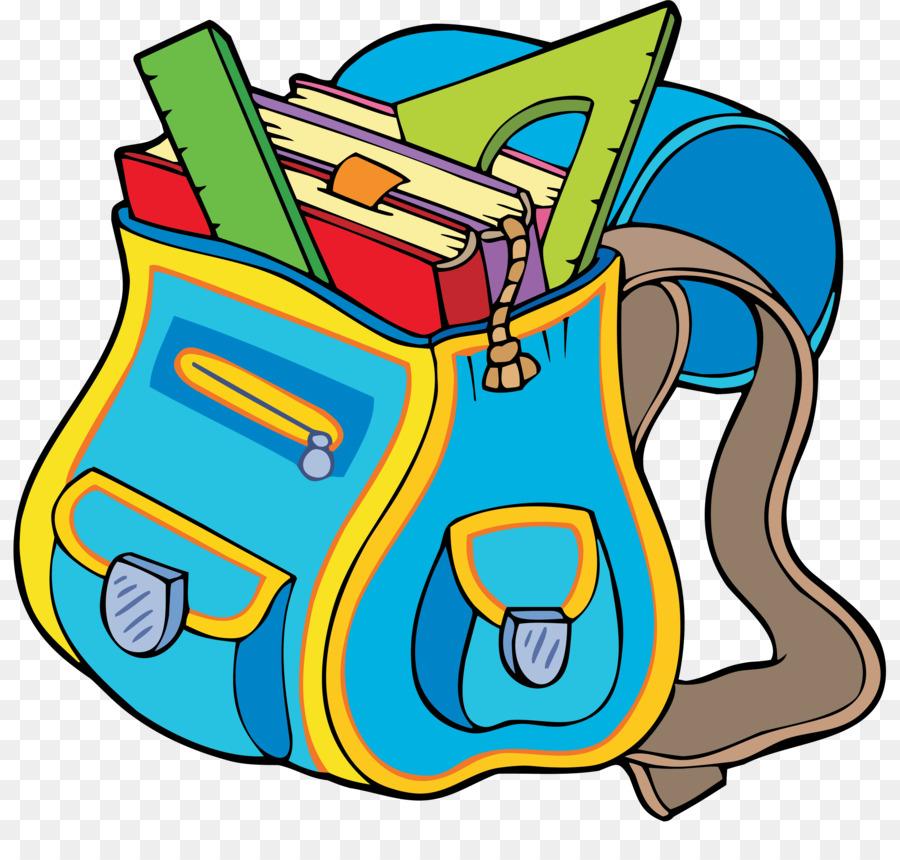Cartoon School Supplies clipart.