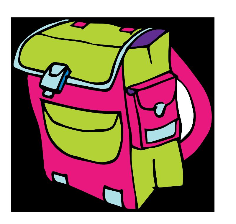 This cartoon school backpack clip art has been released to.