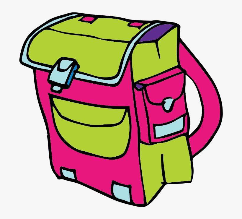 Free Cartoon School Backpack Clip Art.