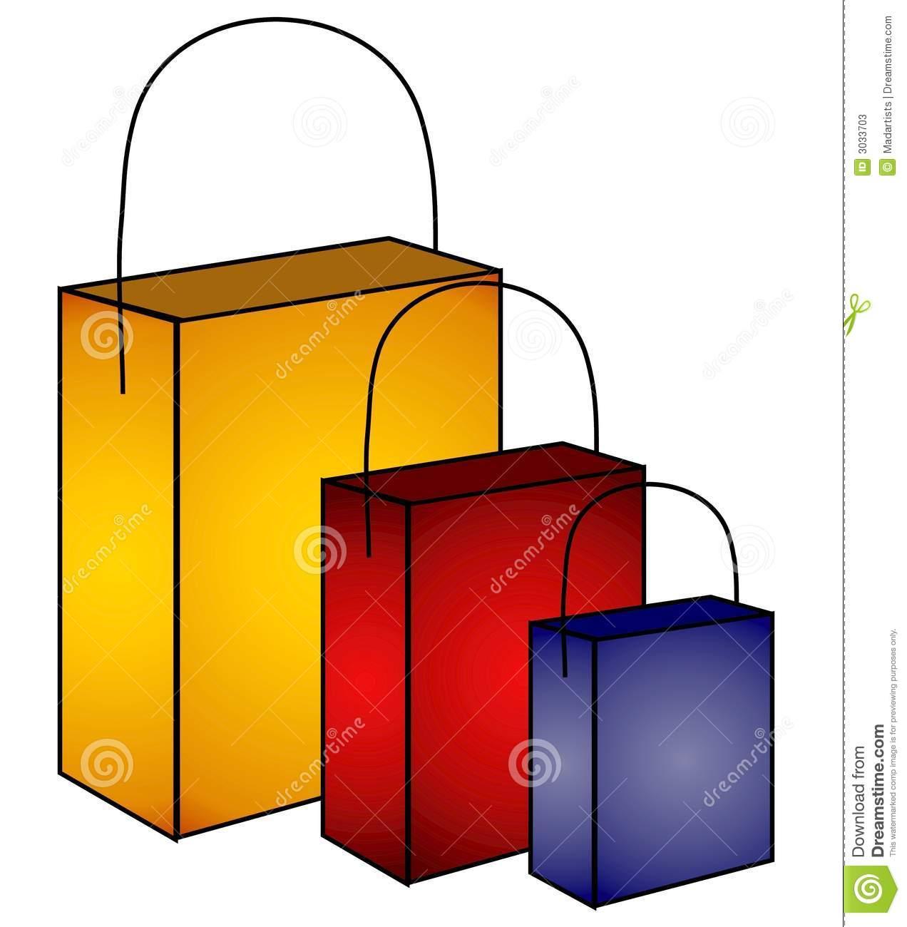 Mystery Shopping Bags Clip Art Stock Photos.