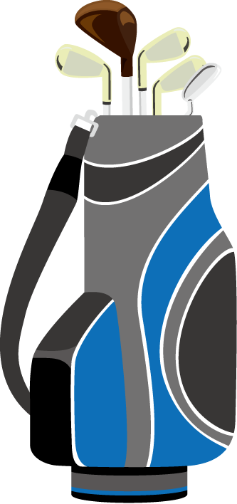 Golf bag clip art.
