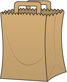 Grocery Bag Clipart.