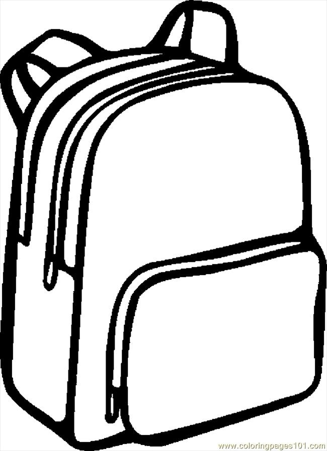 School Bag Clipart Black And White 2.