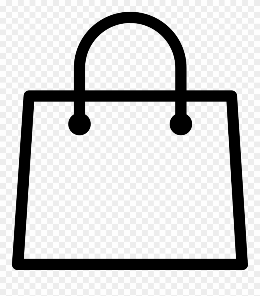 Free The White Shopping Bag Icon Download.