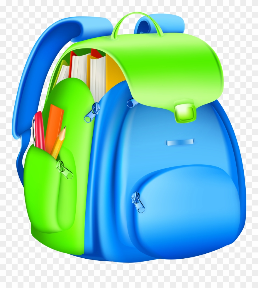 Full Backpack Clipart Collection.