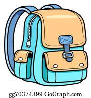 School Bag Clip Art.