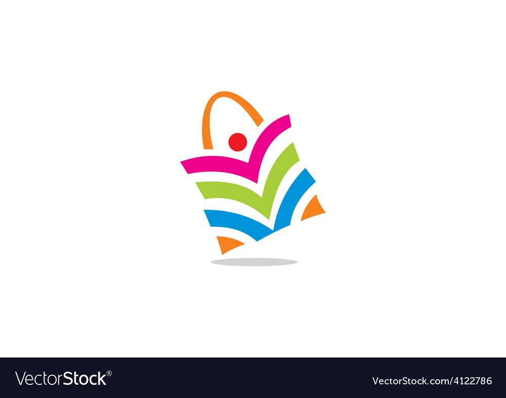 People shopping bag color logo.