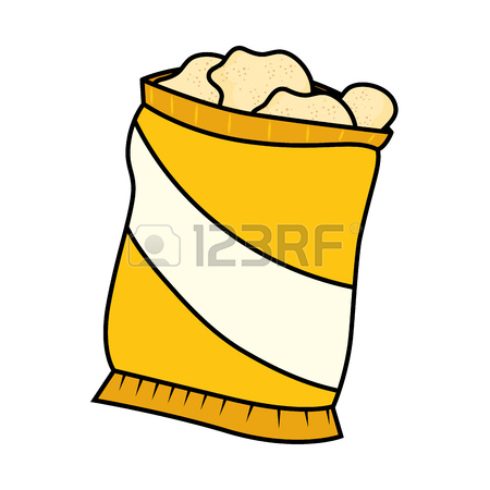 Bag Of Chips Clipart.