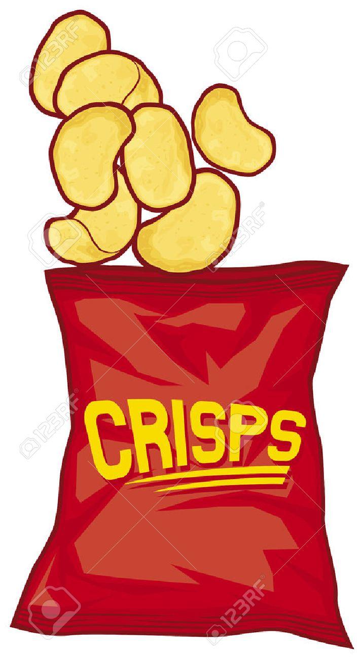 potato chips bag potato crisps bag.