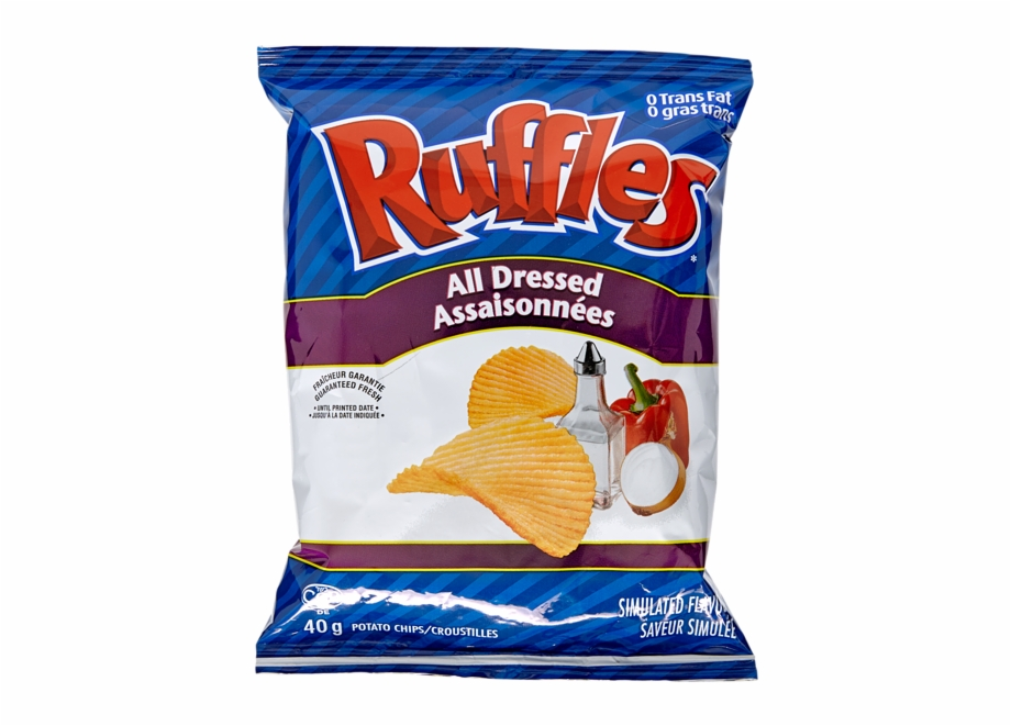 Ruffles Potato Chips, All Dressed Flavor 48 Bags*40g.